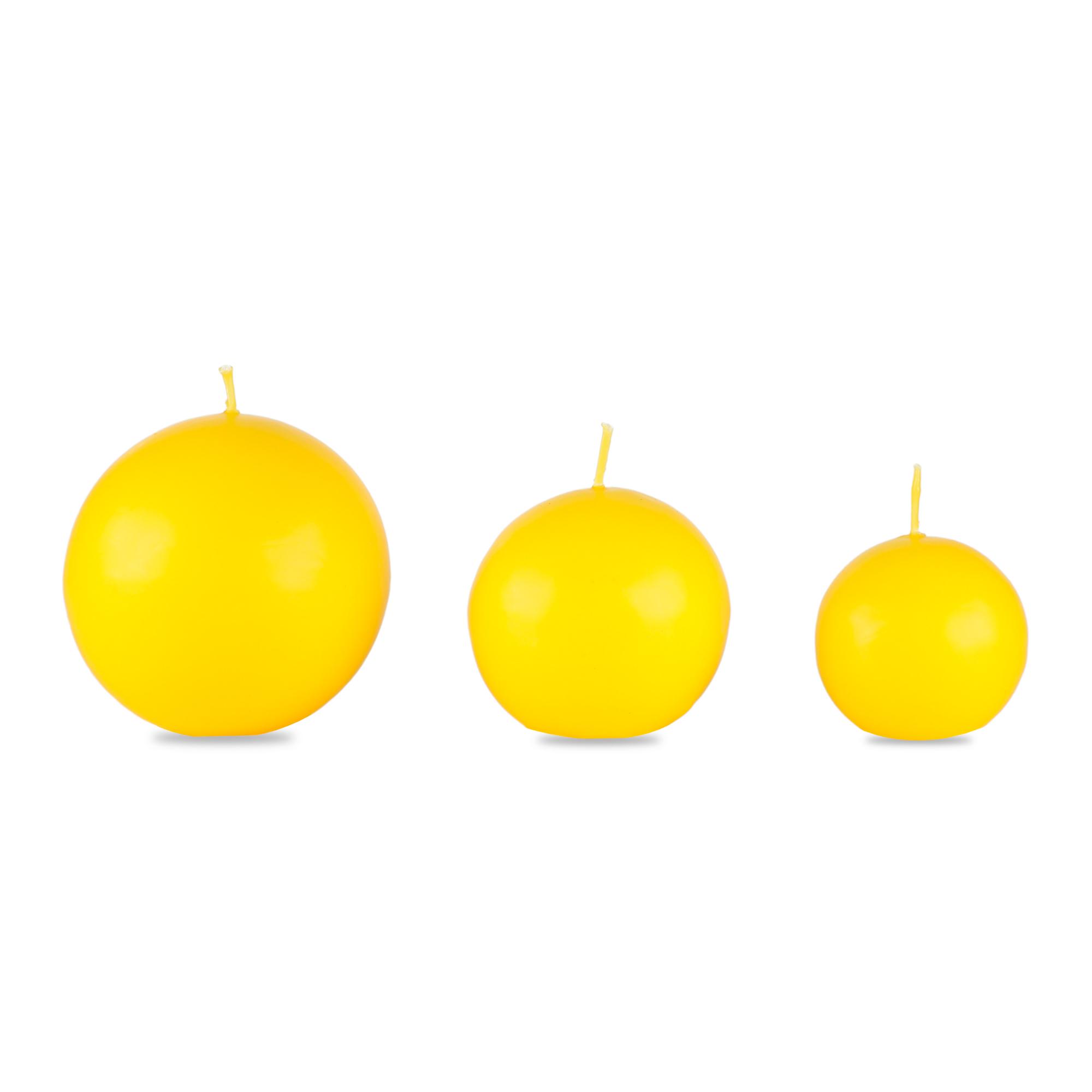 Conjunto com 03 Velas Bola