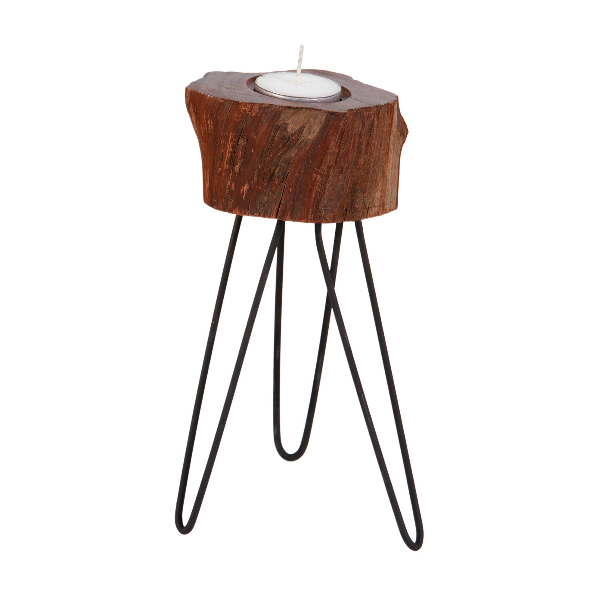 Conjunto de porta velas em madeira