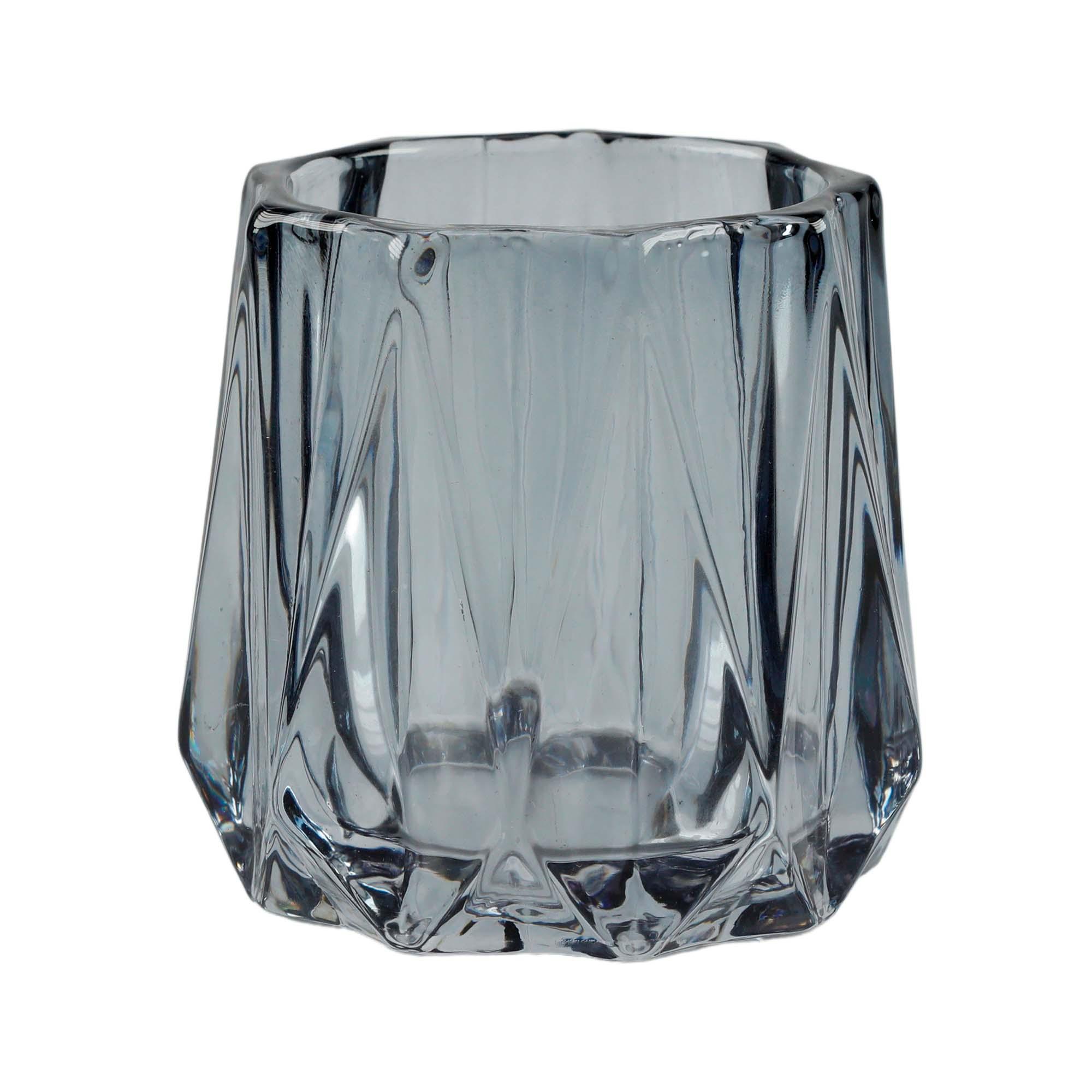 Copo de vidro decorativo