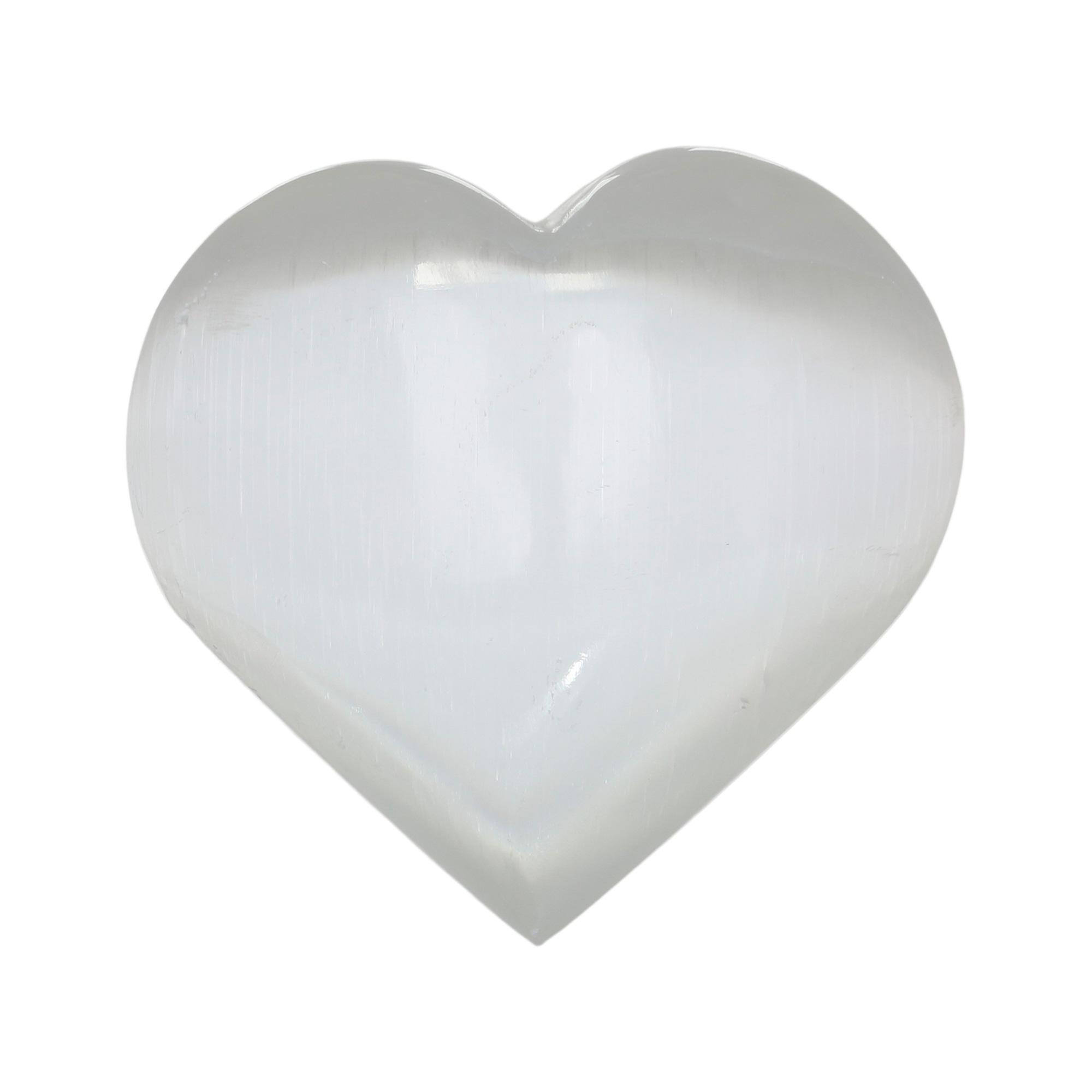 Coração  em Selenita branca