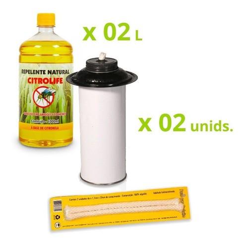 Kit Econômico Citronela (fluido + Tocheiro)