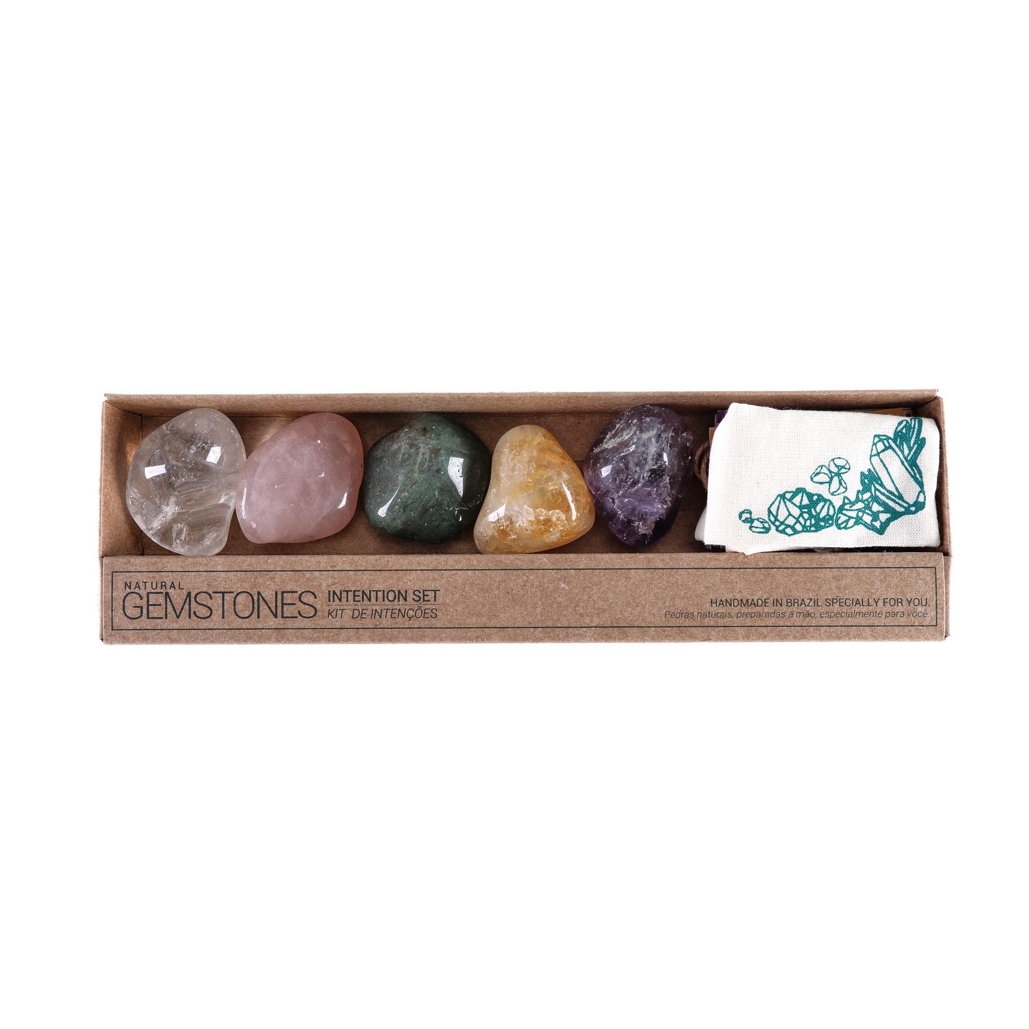 Kit Intenção pedras roladas