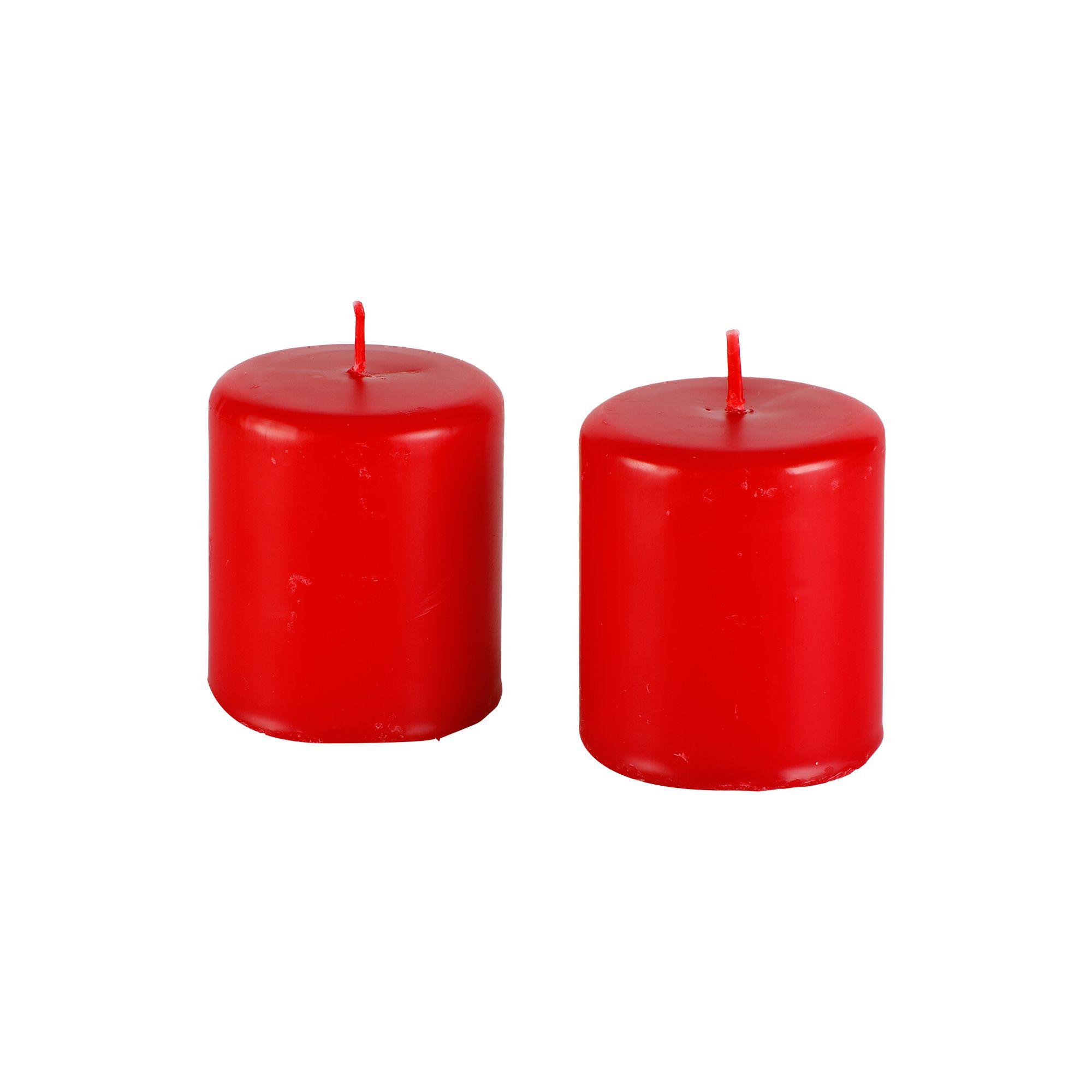 Par de velas cilíndricas  6 cm x 7 cm