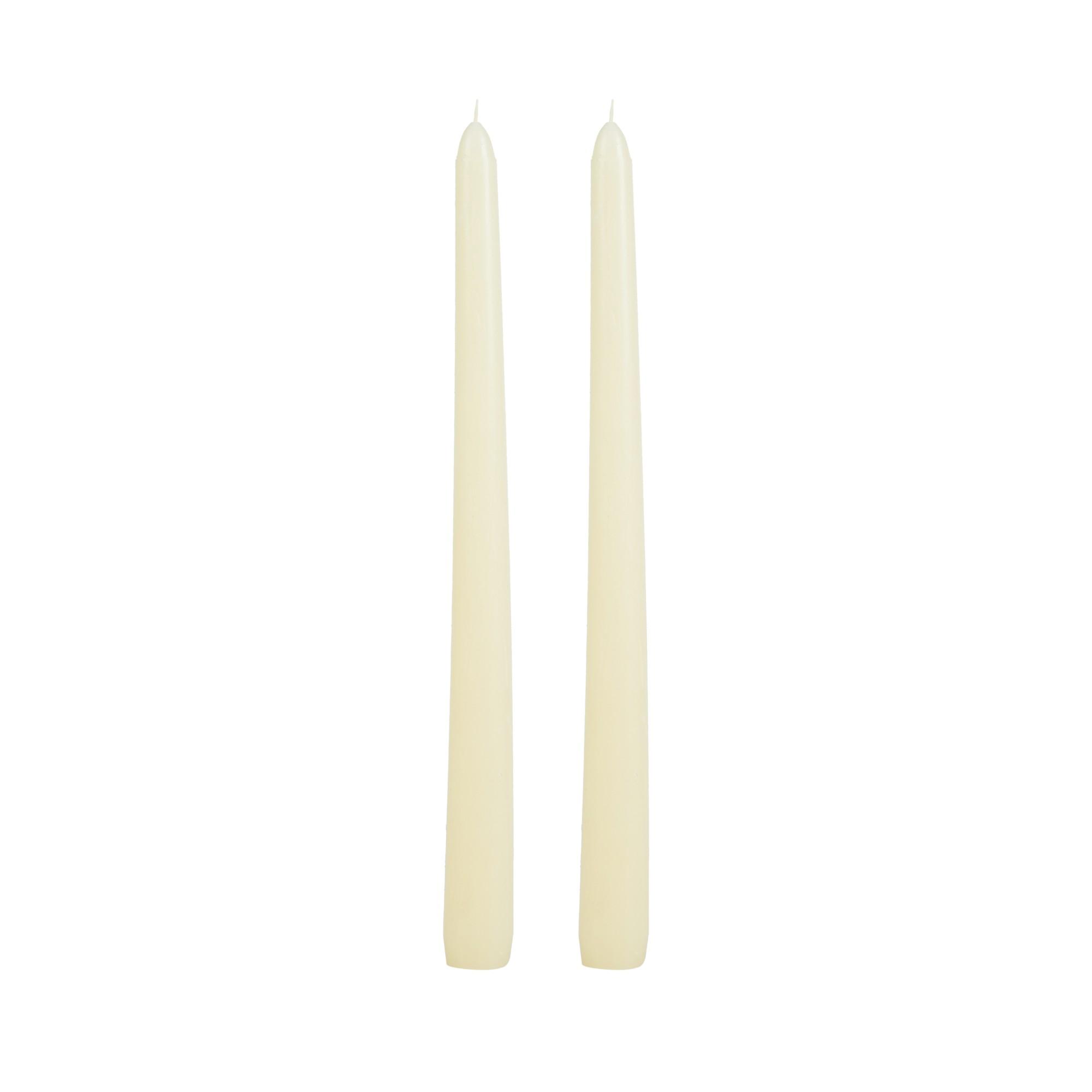 Par de velas para castiçal marfim