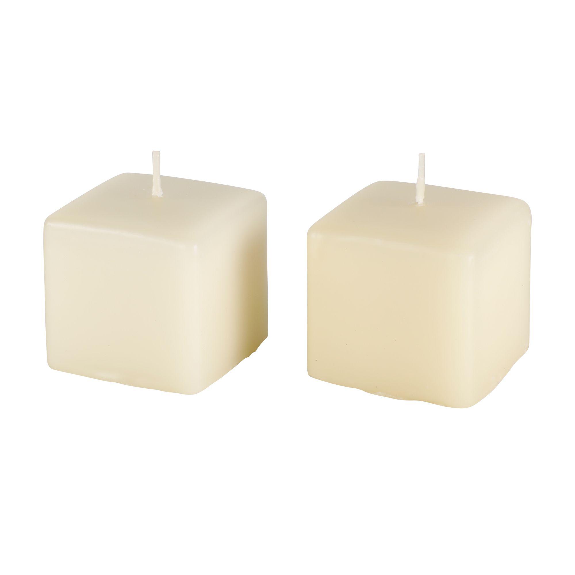 Par de velas retangular   6,5 cm x 7 cm