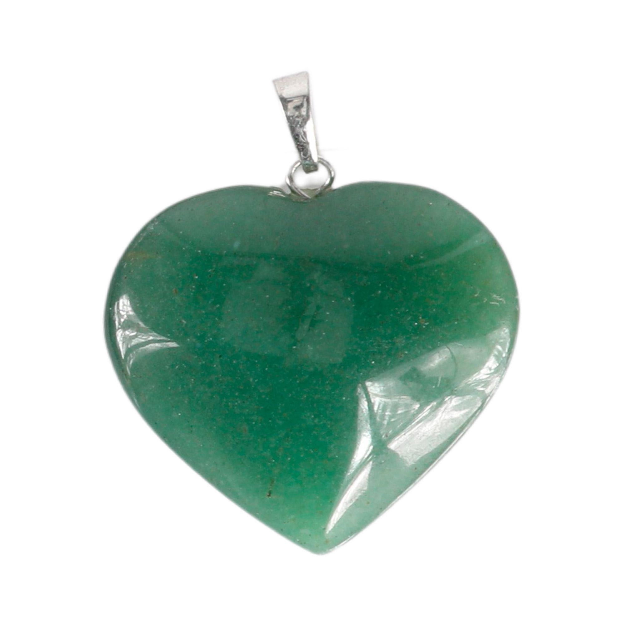 Pingente coração de Quartzo verde