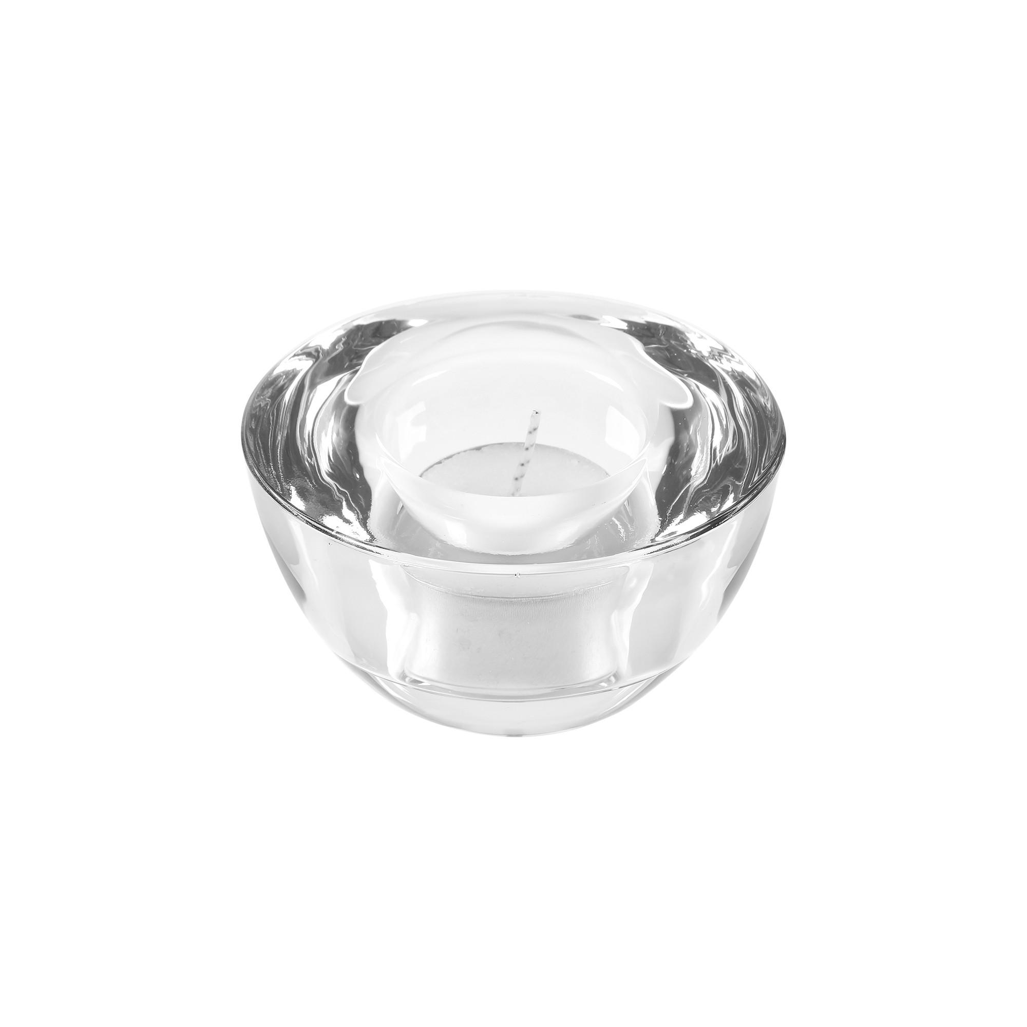 Porta velas em vidro transparente