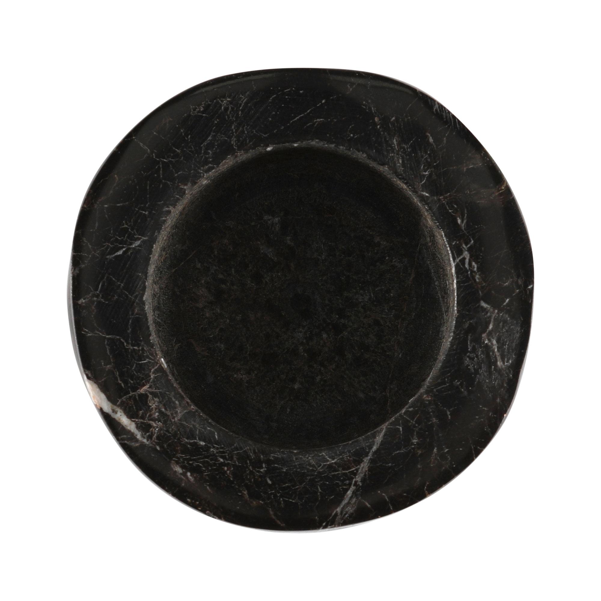 "Porta velas ""Torre"" esculpido em ônix negro"
