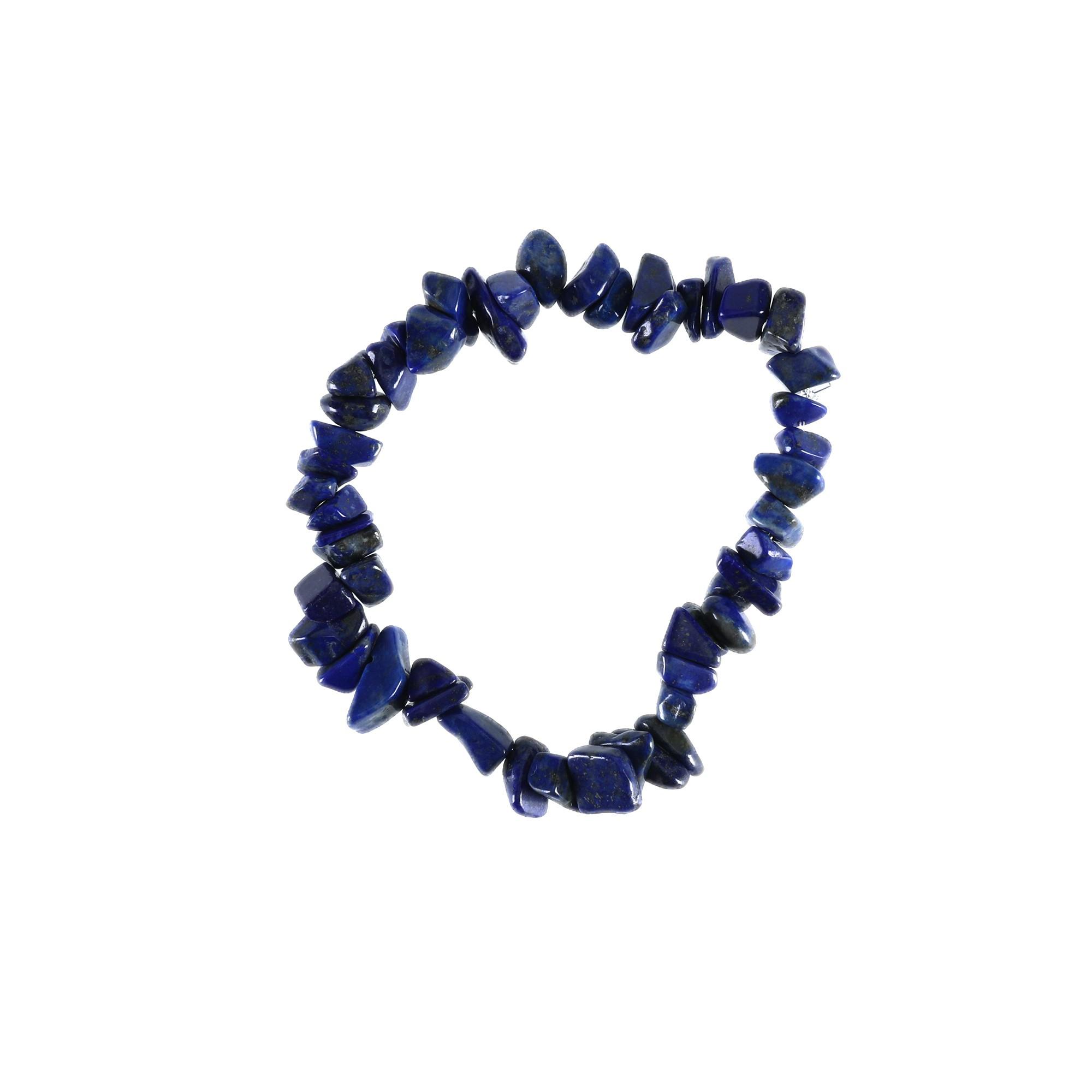 Pulseira de cascalho em Lápis Lazuli