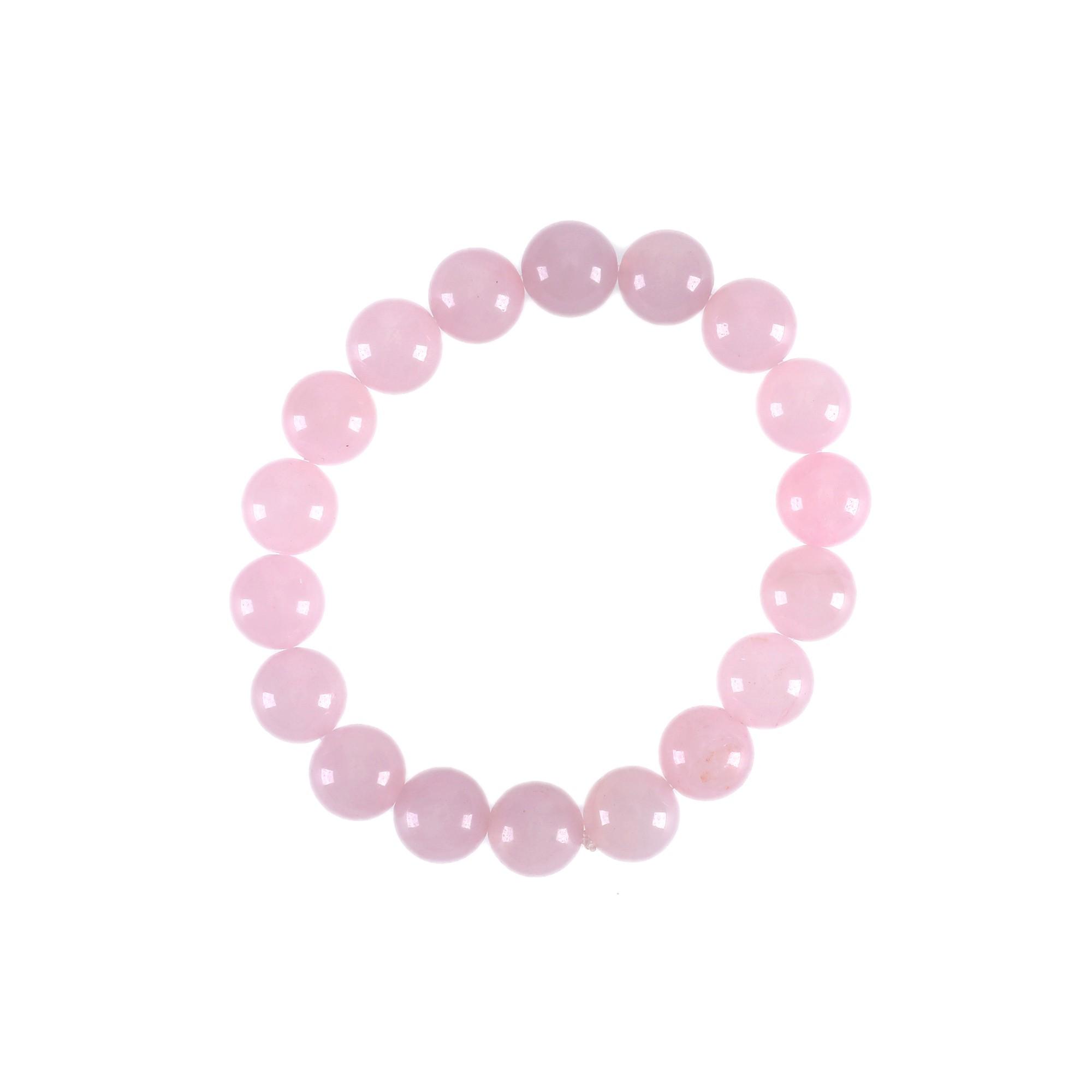 Pulseira de esferas em Quartzo Rosa