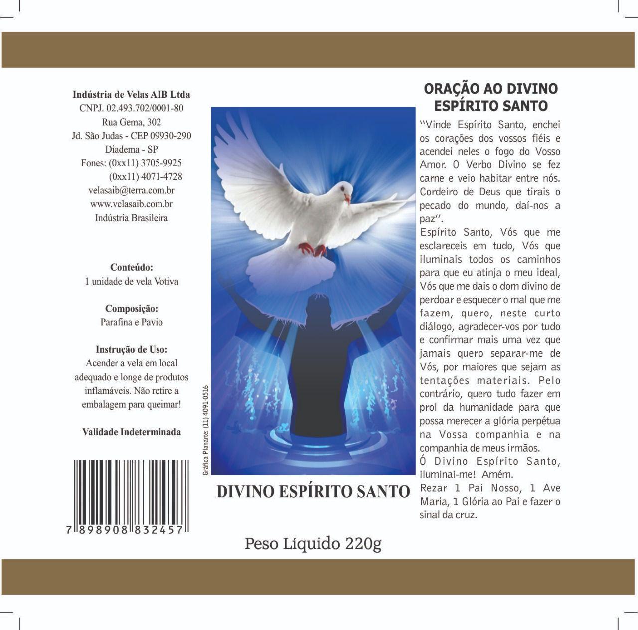 Vela Divino Espírito Santo ( 7 dias)
