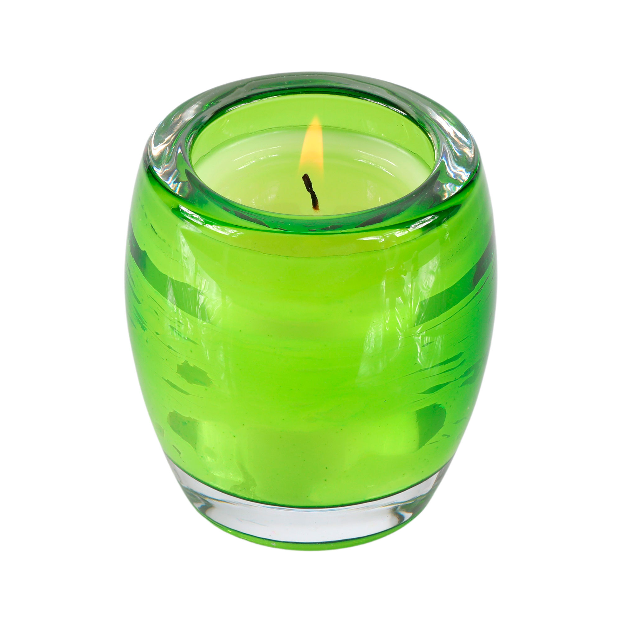 """Vela perfumada """"Bambu"""" no copo de vidro"""