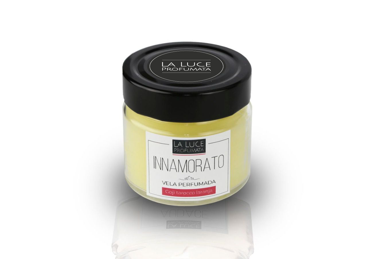 Vela Perfumada INNAMORATO (GOJI BERRY e LARANJA TAROCCO ) 130 g
