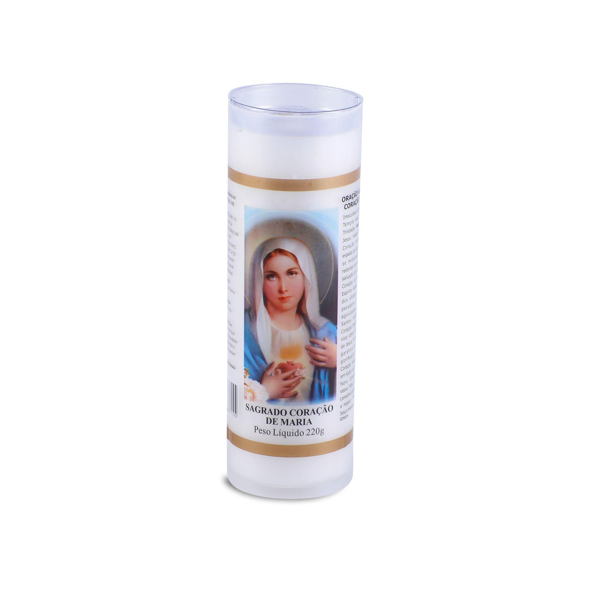 Vela Votiva Sagrado coração de Maria ( 7 dias)