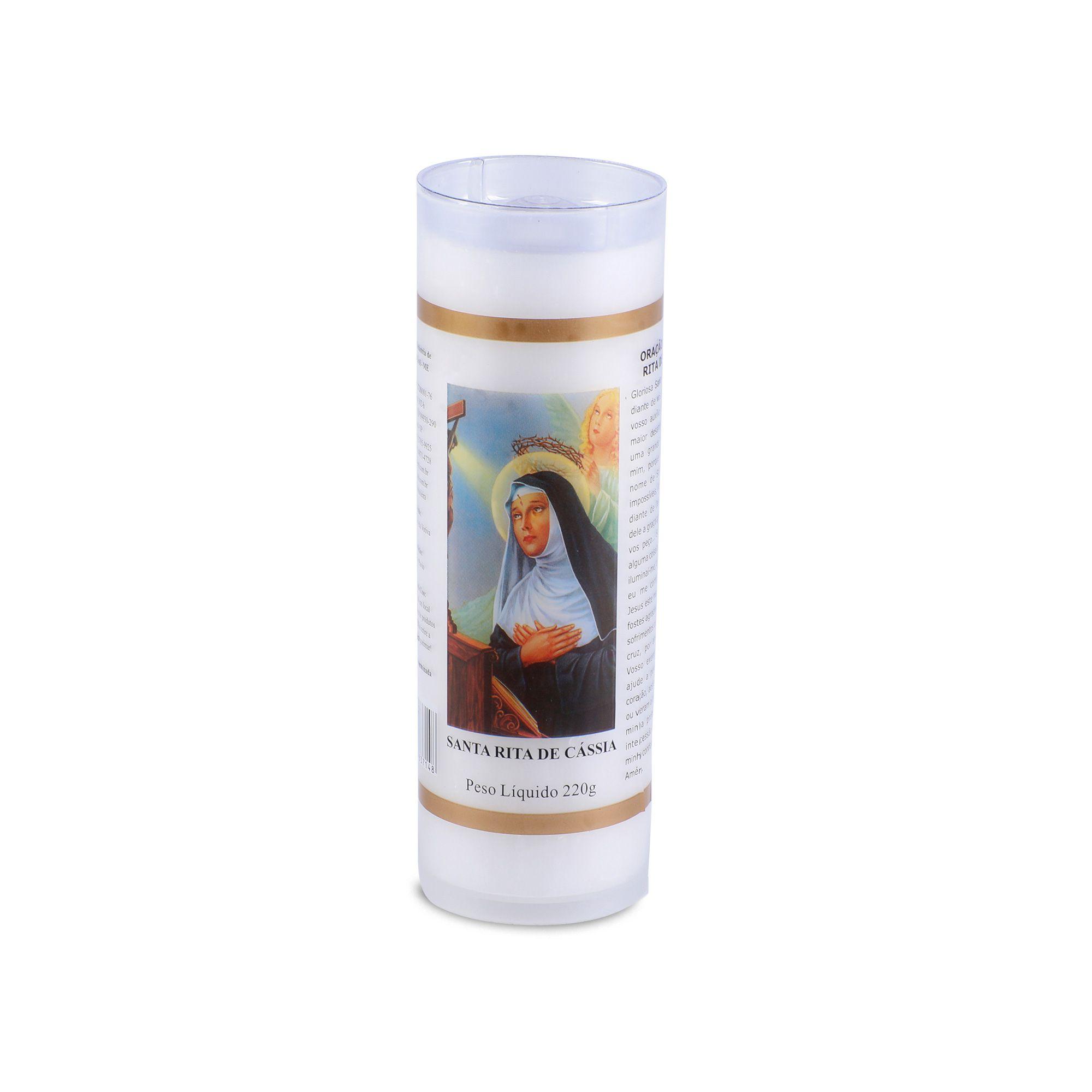 Vela votiva Santa Rita de Cássia ( 7 dias)