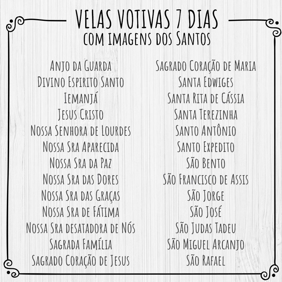 Vela Votiva São Miguel Arcanjo ( 7 dias)
