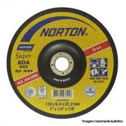 "Disco de Desbaste para Metal 9"" Norton 230 x 6,4 x 22,23mm - BDA640 - 66252841000"