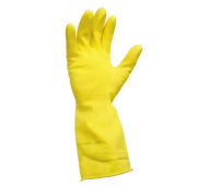 Luva de Látex Antiderrapante TOP Amarela Sanro