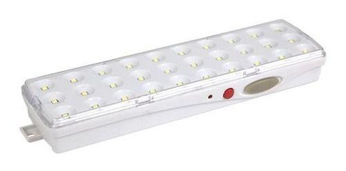 Luminária De Emergência 2w Com Alça 30 Leds Smd Embuled