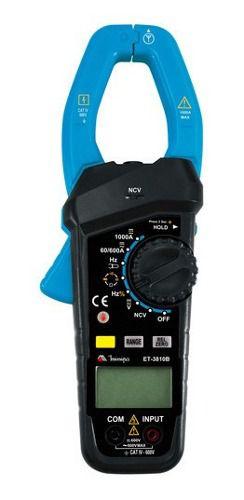 Alicate Amperímetro Digital Et 3810b 1000a