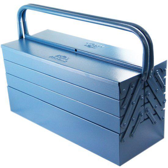 Caixa de Ferramentas Sanfonada com 7 Gavetas Azul - FERCAR-N09