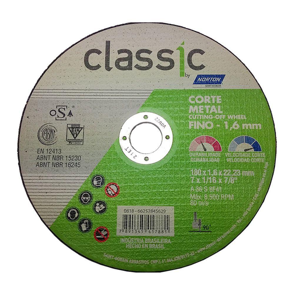 Disco Corte Classic 180 X 1.6 X 22.22