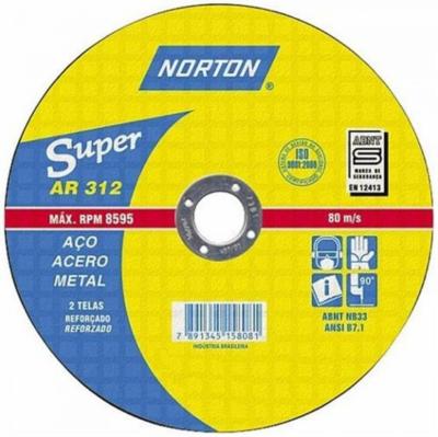 """Disco De Corte 10"""" X 1/8 X 3/4 AR-312 Norton"""