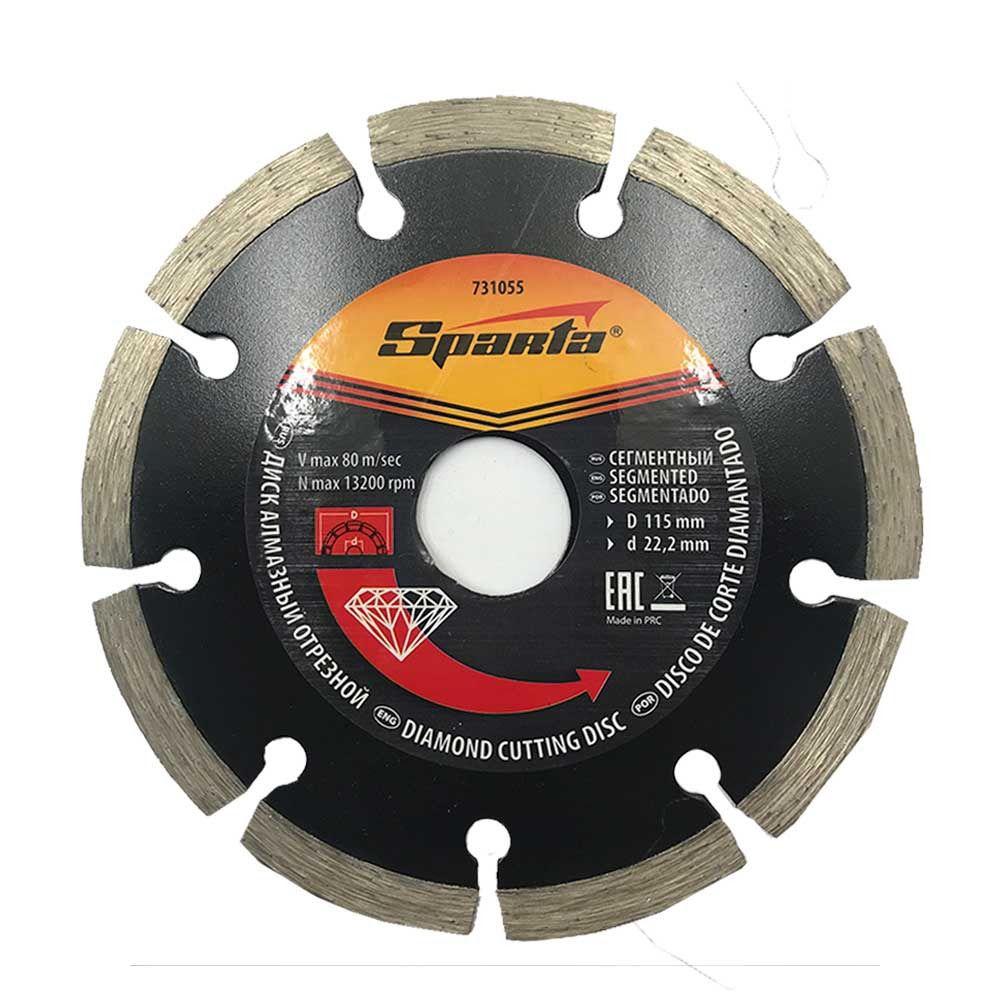 Disco de Corte Diamantado 115 X 22,2mm Segmentado SPARTA 731055