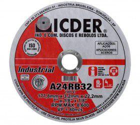 Disco De Corte Icder 254x3,2x19 A24rb32 Industrial