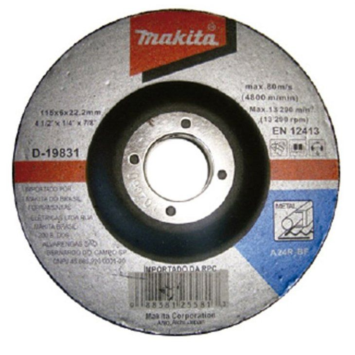 Disco de Desbaste 115mm Para Metal - D-19831-5 - MAKITA