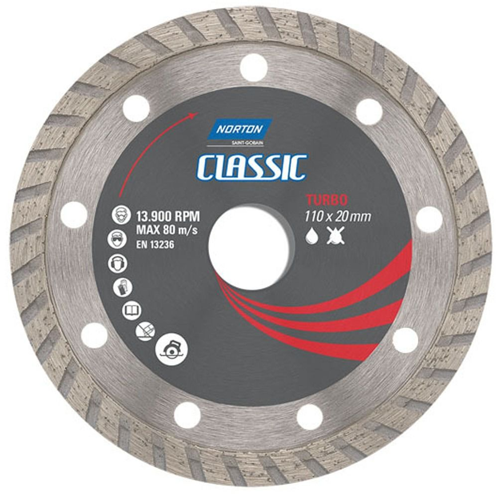 Disco Diamantado 110 x 20mm Turbo Classic Norton