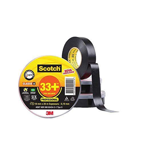 Fita Isolante Scotch 33+ Rolo com 19mm X 20m Scotch 3M