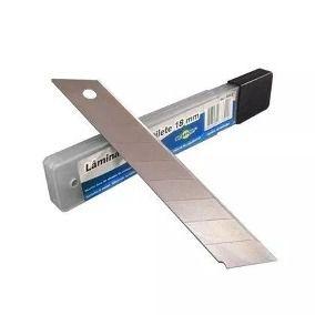 Lâmina para Estilete Brasfort 8602 com 10 Peças 18mm