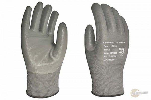 Luva Nylon C/ Banho Nitrílico T-7 Cinza LDI 8020 CA 35980