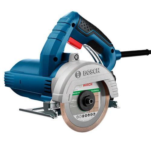 Teste Serra Mármore Bosch Titan 1500W GDC150 - Azul/Preta