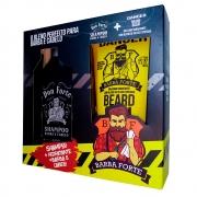 Combo Barba e Cabelo Don Forte + Beard Balm Danger Barba Forte (2 Produtos)