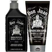 Combo Don Juan Shampoo e Condicionador Barba e Cabelo Barba Forte (2 produtos)