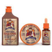 Combo Ironjack Shampoo + Pomada + Óleo Barba 30ml