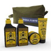 Kit Viagem Danger Barba Forte (4 Produtos + Nécessaire)
