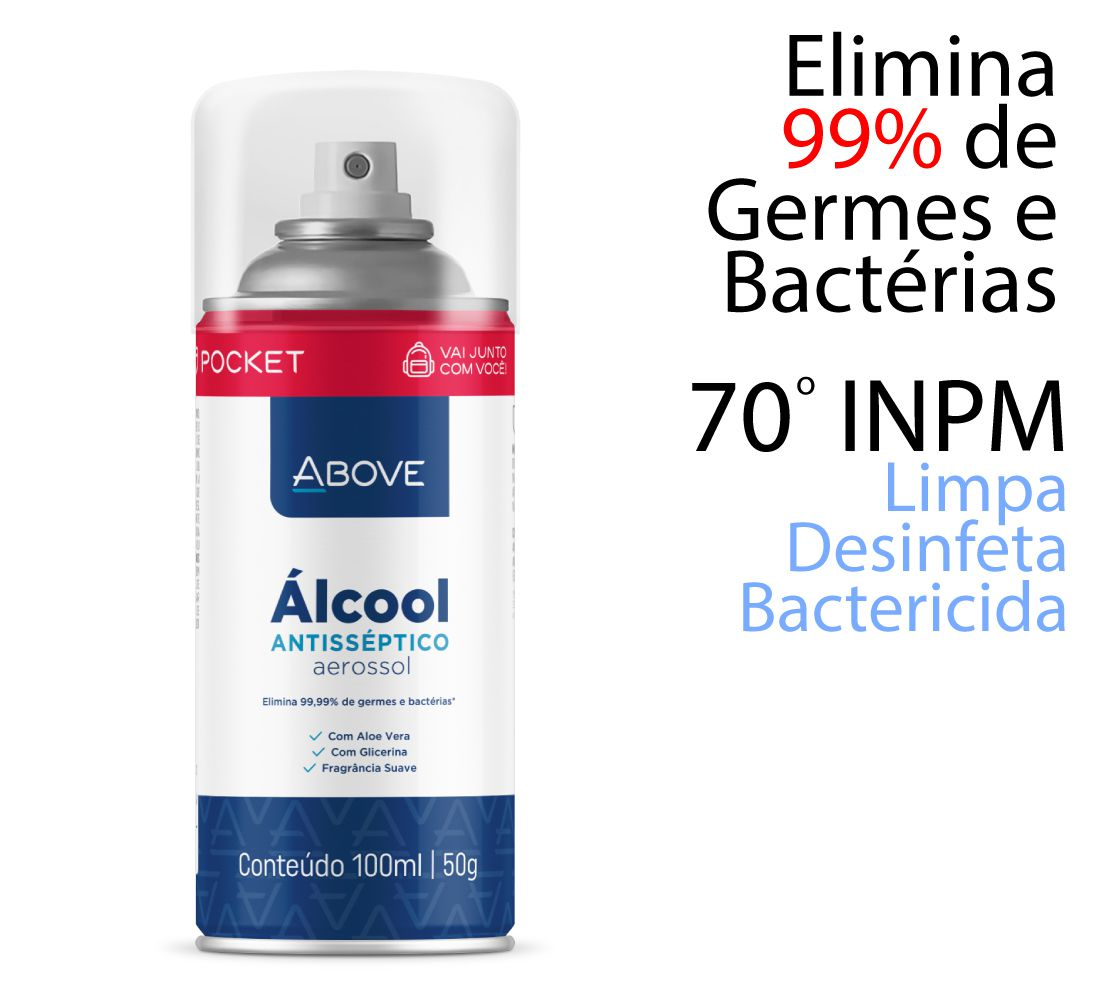 ALCOOL BACTERICIDA AEROSOL SPRAY ABOVE 70% 100ML/50G