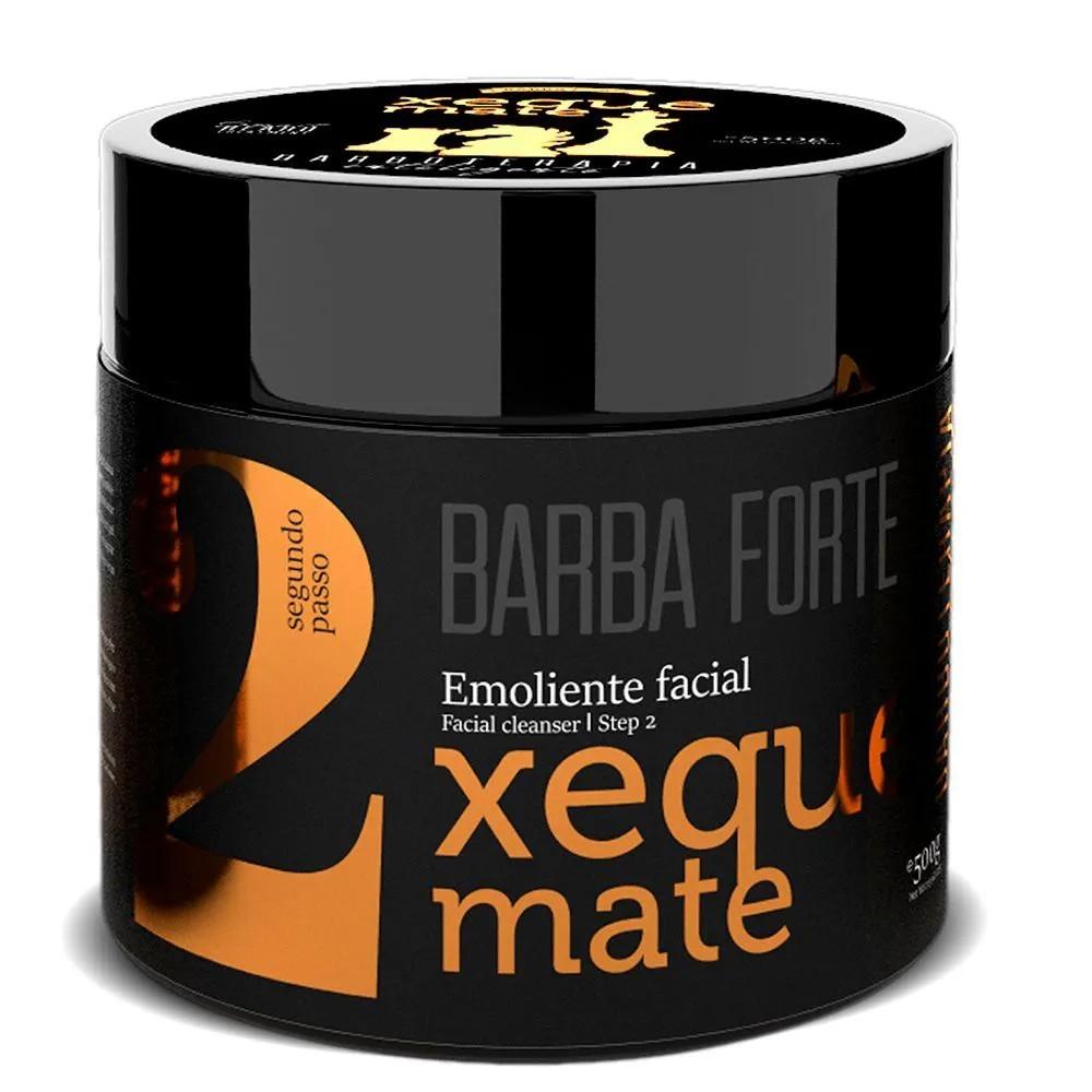 Barboterapia Inteligente Xeque Mate Barba Forte 500g - Kit 3 Produtos