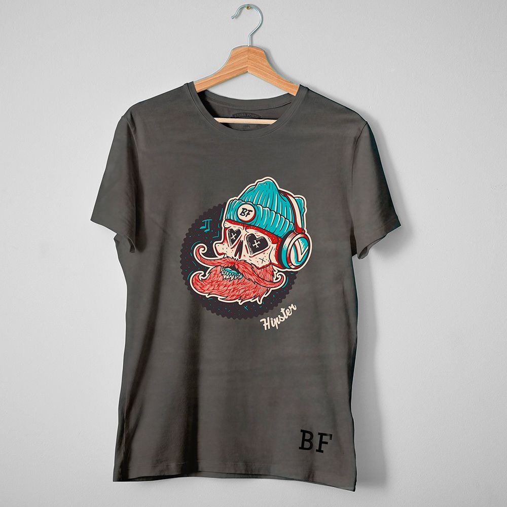 Camiseta T-Shirt Barba Forte Hipster