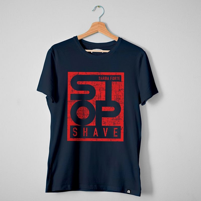 Camiseta T-Shirt Barba Forte Stop Shave