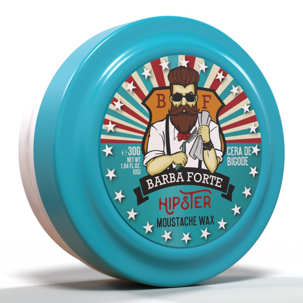 Cera de Bigode Moustache Wax Hipster Barba Forte 30g