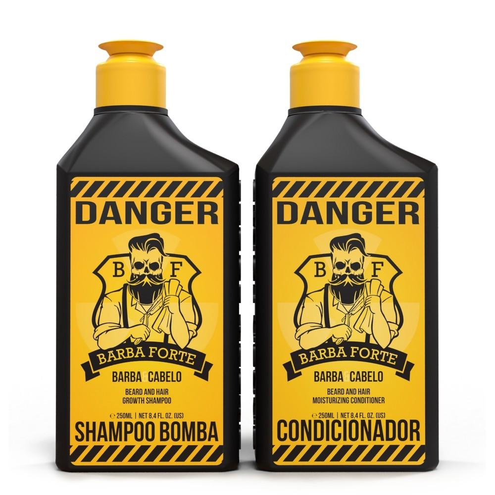 Combo Danger Shampoo Bomba e Condicionador Barba Forte (2 Produtos)