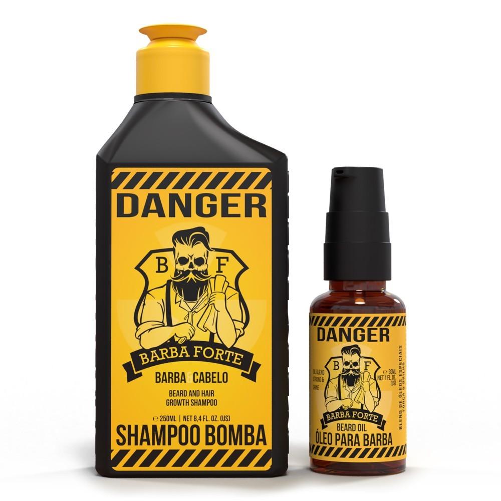 Combo Danger Shampoo e Óleo Barba Forte (2 Produtos)