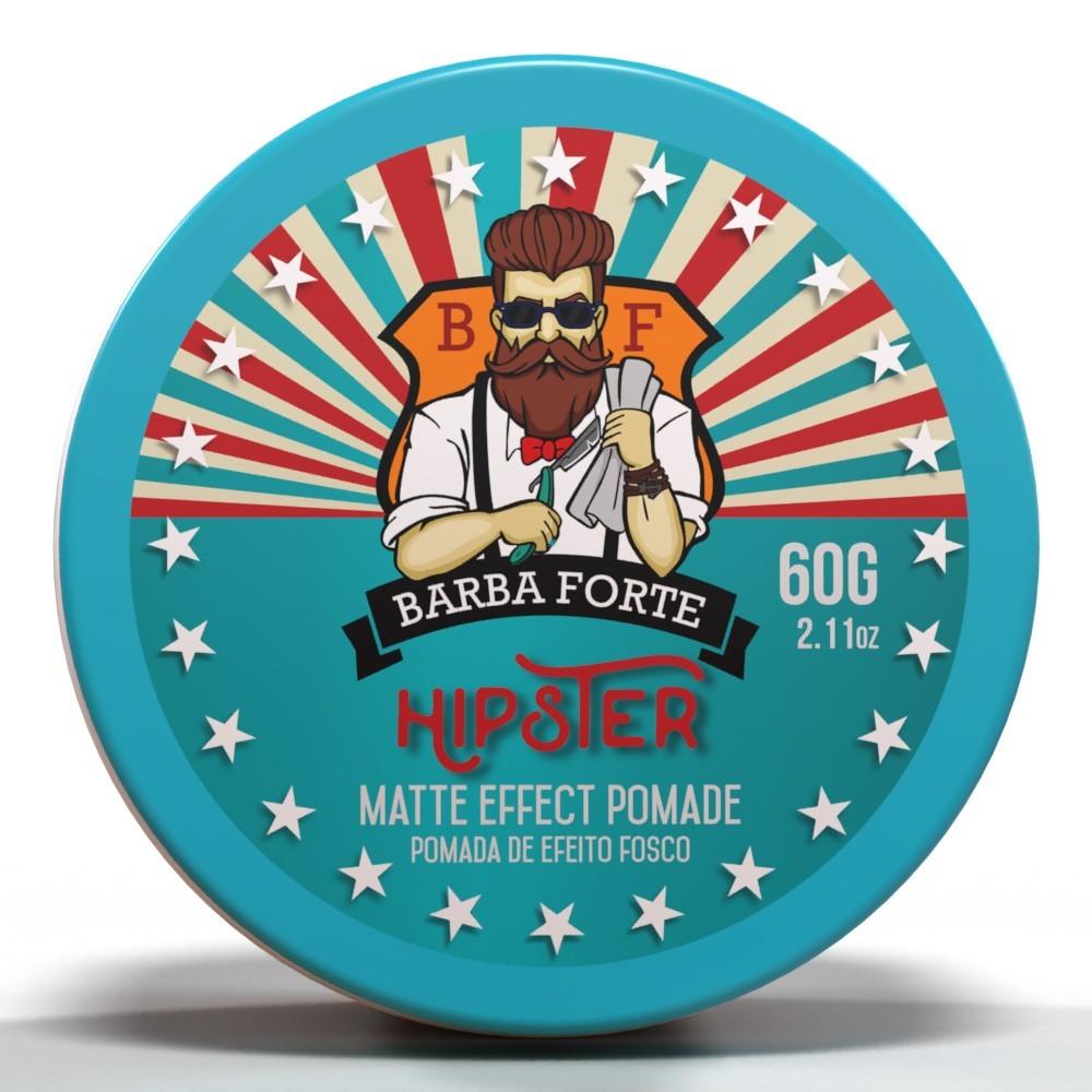 Pomada Efeito Fosco Matte Effect Hipster Barba Forte 60g