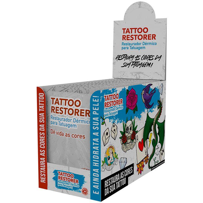 Restaurador Dérmico para Tatuagem Tattoo Restorer Display 24x10g