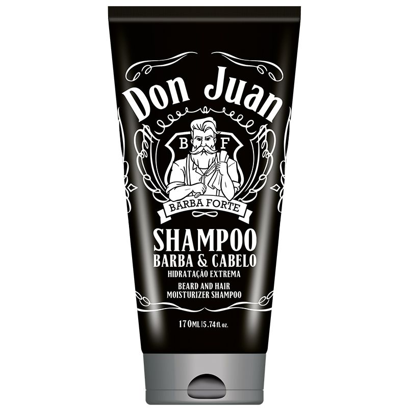 Shampoo Barba e Cabelo Don Juan Barba Forte 170ml