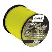 Linha Crown Fiber Soft Amarela 0,18mm - 7lbs 500m